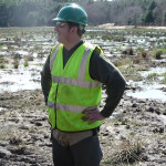 David Gould on the site of the Eel River restoration project. Photo credit: DMEA