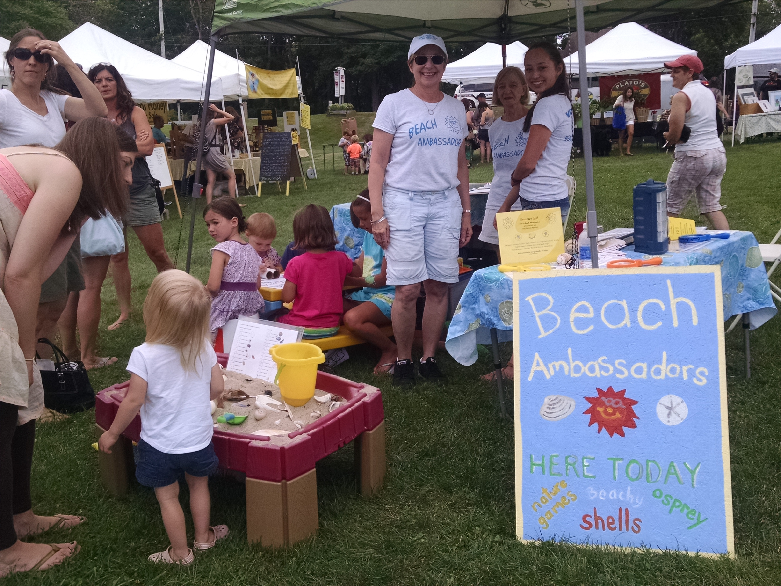 Our booth was popular at wildlife festivals